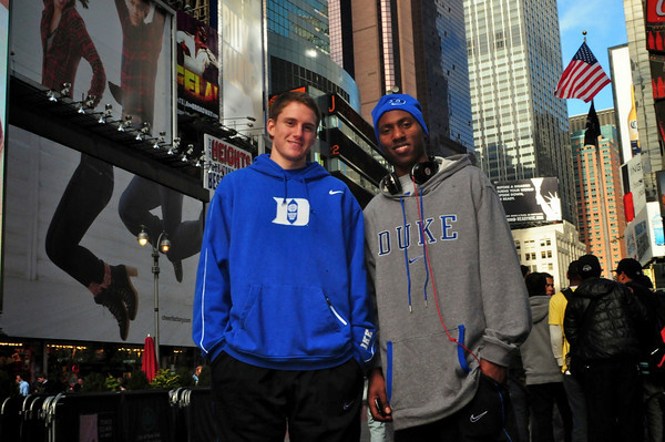 Walk-on ______ and junior Nolan Smith are enjoying New York City's sites before getting ready to face Arizona State tonight at 9:30 p.m.