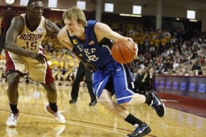 Kyle Singler was named to the NBA All-Rookie second team after averaging 8.8 points and 4.0 rebounds during his first season in the league.