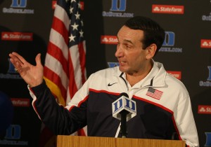 Mike Krzyzewski is pondering a return to USA Basketball. (File Photo).