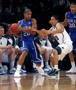 Andre Dawkins' 26 points against Michigan State helped deliver Coach K's record-breaking 903rd win. (Photo Credit: Chris Dall/Chronicle File Photo)