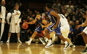 Curry overcame a left ankle injury to score 21 second half points and lead Duke's comeback over N.C. State.