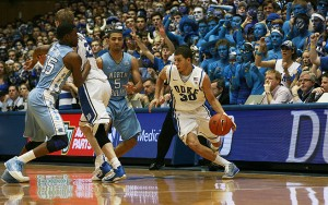 Seth Curry's second-half shooting helped to propel Duke past North Carolina in Curry's first game in the Tobacco Road Rivalry.