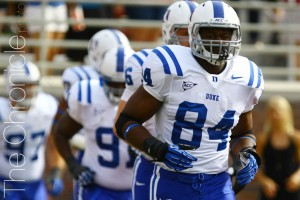 Kenny Anunike hopes to lead an improved Blue Devil pass rush when he returns for a sixth season (Photo by Thanh-Ha Nguyen/The Chronicle)