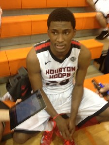 Elite wing player Justise Winslow at the Nike EYBL in Hampton, Va. (Photo Credit: Brady Buck/The Chronicle)