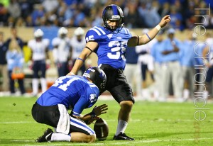 Ross Martin led the Blue Devil kicking unit last season and hopes to replicate his success as a sophomore (Photo by Faith Robertson/The Chronicle)