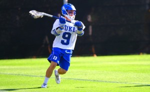 Freshman Case Matheis scored three goals to lead Duke past Loyola in a double-overtime thriller. (Eric Lin/The Chronicle)