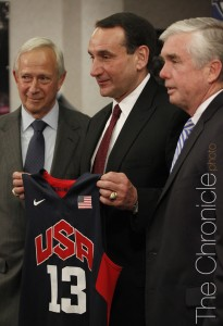 Mike Krzyzewski will coach the US Men's National Team through the 2016 Olympics (Photo by Elysia Su/The Chronicle)
