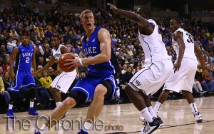 Mason Plumlee was one of three former Blue Devils invited to the NBA Draft Combine. (Eliza Bray/Chronicle File Photo)