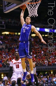 Mason Plumlee won't be competing in drills at the NBA draft combine today. (Photo by Elysia Su/The Chronicle)