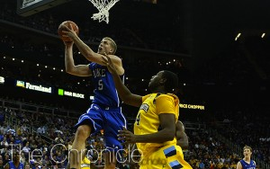 The first breakout performance of Mason Plumlee's career came on a night where Duke's stars struggled.